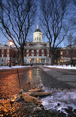 Jesse Hall (Notley Hawkins) Tags: httpwwwnotleyhawkinscom notleyhawkinsphotography notley notleyhawkins 10thavenue jessehall mizzou morning bluehour ice freeze cold coldmorning 2007 building tree dof depthoffield leaf facade campus universityofmissouri december winter