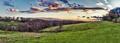 IMG_3230-33Ptzl1scTBbLGER (ultravivid imaging) Tags: ultravividimaging ultra vivid imaging ultravivid colorful canon clouds sunsetclouds scenic rural fields farm landscape lateafternoon twilight vista sky spring horse pa pennsylvania panoramic painterly evening 5dm2