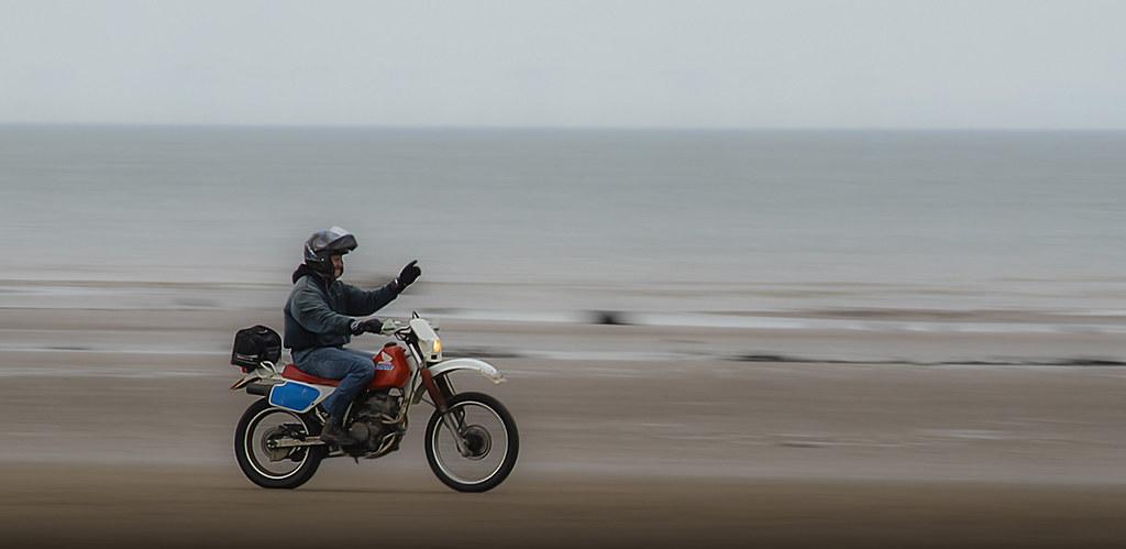 Beach Biker, Maryport, Cumbria, UK (15/4/18)