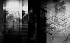 [ .   DIMENSIONALITY   . ] (ǝlɐǝq ˙M ʍǝɥʇʇɐW) Tags: film lomo multipleexposure redux remix mrtrona analogue order inorder outoforder bw black white dimensionality liminal time church religion building structure skeletal lines window portals