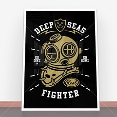 Plakat Deep Seas Fighter (nasciany) Tags: plakat plakaty nascianypl dekoracje wall wallpaper walls plakatydekoracyjne ilustracja posters print decor decortion art homedecor home homesweethome interiordesign decorations interior design walldecor walldecoration homedesign printablewallart decorativeposter wystrojwnetrz illustration