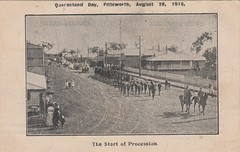 Queensland Day in Pittsworth, Qld - August 28, 1915 (Aussie~mobs) Tags: vintage queensland australia clarkeson pittsworth 1915 patriotic fundraiser queenslandday procession march parade street horses