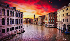 Rahul Deo Photography (Rahul Deo Photography) Tags: rahul deo photography rahuldeoin italy venice venezia hdr sunset sony sonyalpha reflection water rialto travel travelphotography landscape