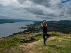Over Loch Fyne - July 2018 (GOR44Photographic@Gmail.com) Tags: person loch water scotland argyll fyne gor44 green cloud yoga dunnacuaiche inveraray castle panasonic olympus 1240mmf28 g9