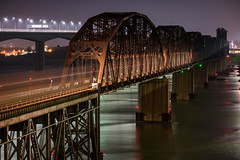 Benicia Bridge Westbound (cadet_wilson) Tags: bridge benicia night california calp amtrak union pacific railroad railway railfanning dusk evening spring bridges photography lights streetlight highway freeway cars long exposure nikon d3400 30 seconds april 2018 nighttime