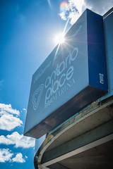 Ontario Place (A Great Capture) Tags: agreatcapture agc wwwagreatcapturecom adjm ash2276 ashleylduffus ald mobilejay jamesmitchell toronto on ontario canada canadian photographer northamerica torontoexplore ontarioplace marina bluesky sun puffy clouds welcome sign