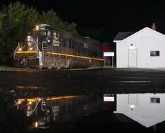 Central to Burlington (gsebenste) Tags: illinoiscentral ic cn trains night burlington illinois