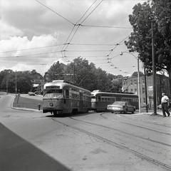 MBTA PCC 3216 SouthSt 7-26-1967 (ironmike9) Tags: trolley tram streetcar pcc transit publictransit track rail lightrail mbta bostonma