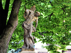 Karlštejn, socha sv.Šebestiána-IMG_0052p (Milan Tvrdý) Tags: karlstein karlštejn czechia czechrepublic matyášbernardbraun braun matthiasbernardbraun