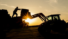 When its Sunny, Make Hay (Jamesylittle) Tags: hay farm harvest farmer tractor silhouette summer 2018 countryside