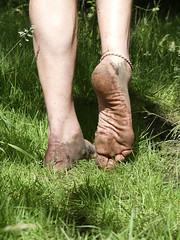 Natural footsteps (Barefoot Adventurer) Tags: barefoot barefooting barefoothiking barefooter barefeet barefooted baresoles barfuss wrinkledsoles woodlandsoles walk woodland toughsoles texture healthyfeet happyfeet hardsoles hiking anklet arches forestwalk forestsoles livingleather leathertoughsoles earthing earthstainedsoles earthsoles heelcracks stainedsoles strongfeet soil connected callousedsoles naturallytough naturalsoles natural nature