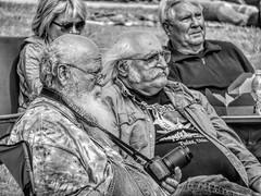 Waiting for the Frame (clarkcg photography) Tags: blackandwhite blackwhite bw men male beard bald glasses camera nikon park blackandwhitethursday thursdayblackandwhite 7dwf