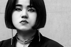 Seoul (ale neri) Tags: people portrait korean girl bw aleneri fashionweek seoul korea blackandwhite alessandroneri