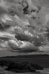 Salish clouds (F0t0graphy) Tags: bw monochrome clouds cloudy salishsea sea juandefuca olympics hollandpoint victoria britishcolumbia canada nikon