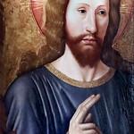 IMG_0100A Jean Bourdichon 1456-1521 Tours  Christ bénissant. Christ blessing.  (Diptyque)  Tours Musée des Beaux Arts thumbnail