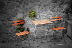 for lovers, that were forgotten for everything that's over,   without hope anymore (christinehag) Tags: chairs chaises καρέκλεσ τραπέζι table