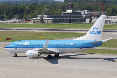 KLM Boeing 737-700; PH-BGX@ZRH;02.07.2018