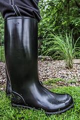 New Nora Dolomit rubber boots (Anton Stiefel) Tags: gummistiefel gummi stiefel rubberboots rubber boots nora dolomit black schwarz ungefüttert unlined glänzend shiny