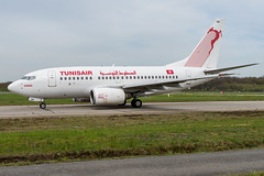 Tunisair / B736 / TS-IOK / LFRS (_Wouter Cooremans) Tags: nte nantes spotting spotter avgeek aviation airplanespotting tunisair b736 tsiok lfrs