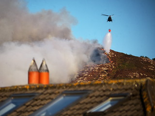 Irish Air Corps AW139 fights a fire on Bray Head