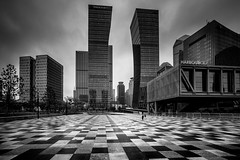 (Rob-Shanghai) Tags: mono shanghai china leica m240 cv21mm pudong cityscape city
