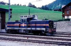 MOB 2004  Zweisimmen  30.06.88 (w. + h. brutzer) Tags: zweisimmen eisenbahn eisenbahnen train trains schweiz switzerland railway diesellok mob webru analog nikon