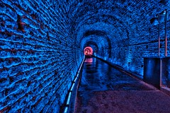 Brockville  Ontario - Canada -  Philips Light Show -  365 days a year (Onasill ~ Bill Badzo) Tags: canon sl1 18250mm sigma lens macro rebel eos brockville on ontario canada leedscounty greenvillecounty downtown heritage historic first railway tunnel ottawa cpr canadian pacific city confederation pre restoration light effects attraction site onasill architecture geology victoria hall water street timber trade valley port st lawrence river seaway elizabethtown eastern thousand islands travel tourist wall philips color kinetic colr graze mx4 powercore fixtures lightshow train ceiling
