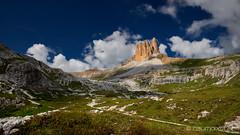 Dolomiten am Vormittag (Oliver Hallwirth   raumpixel) Tags: asi alpen alps alpenüberquerung2018 mountainhiking bergwandern berge nikon d850 afs2018 dolomiten wolken clouds südtirol