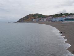 a female Canute (watcher330) Tags: aberystwyth beach sea woman