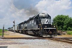 NS 3569 South (BSTPWRAIL) Tags: ns norfolk southern railroad railway rail road way local manifest mixed freight train sd402 locomotive locomotives crandall illinois