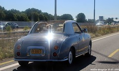 Nissan Figaro 1991 (XBXG) Tags: 89xvd2 nissan figaro 1991 nissanfigaro cabriolet cabrio convertible roadster tourer a1 nederland holland netherlands paysbas retro vintage old classic japanese car auto automobile voiture ancienne japonaise japon japan asiatique asian vehicle outdoor youngtimer rhd