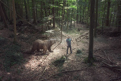 "203/365 - ""dude i'm telling you there are no bears . . . . . "" (possessed2fisheye) Tags: possessed2fisheye scottmacbride scott creativeselfportrait creative creativephotography creativephotoshop photoshop photoshopmanipulation i♥photoshop selfportrait self bear ifyougodowntothewoodstonight forest bearinthewoods animalattack animal onthephone 365 365project project365 2018 2018365project 365project2018"