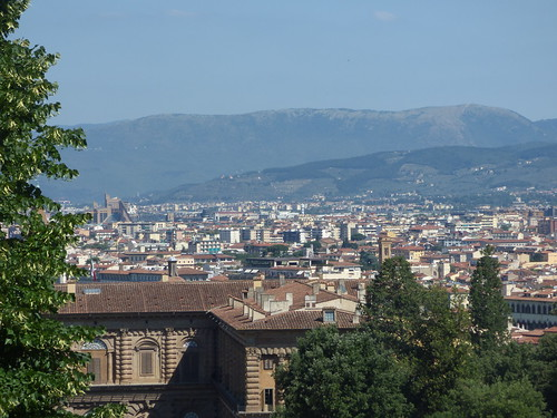 Florence skyline from Boboli Gardens - Palazzo di Giustizia