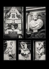Michelangelo's Tomb, Florence (S.R.Murphy) Tags: tomb renaissance art sculpture michelangelo florence firenze italy tuscany santacroce basilica vasari battistalorenzi giovannidellopera valeriocioli gbnaldini stuartmurphy bnw bw blackandwhite monochrome mono polyptych sanniccolo fujixf1855mm fujifilmxt2 lightroomcc