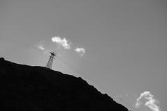 Pylon (No_Mosquito) Tags: cablecar sky mountain cloud pylon structure monochrome bw canon powershot g7xmarkii lines silhouette early morning outdoors südtirol south tyrol kurzras grawand schnalstal alps