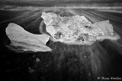Diamond Beach #11 (Russ Kerlin Photography) Tags: iceland blacksand beach diamondbeach surf waves ice