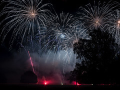Newby Hall, fireworks 2018 (johnhjic) Tags: white gold blue red yellow flash long colour colours color colors tree trees fireworks firework newby hall north yorkshire silhouette championships explosive pyrotechnic brilliant smoke bright x1d hasselblad johnhjic