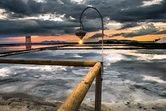 La salina al tramonto (mario.rosseti) Tags: sicilia saline