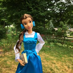 Dreaming of far-off places and magic spells (Timb0Wimb0) Tags: belle beauty beast disney princess doll reroot saran ooak bete fairy tale provincial village bookworm bibliophile blue bow