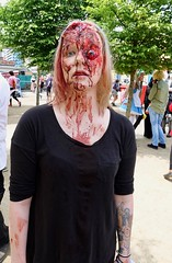 "ComicCon 1 (fjlong26348) Tags: mcm comiccon convention may 2018 london england gb uk capital city excel centre cosplay characters costumes comic con docklands newham gathering fans anime manga ""dressing up"" ""fancy dress"" fantasy mystery horror fanzine popular culture crowds fun sharing ""iphone 8 plus"" zombie blood gore eyeball"