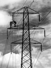 Head for heights in black and white (John Hill Millar) Tags: bnw black white noir blanc blancetnoir blackandwhite blacknwhite blackwhite lead lines leadinlines ruleofthirds mono monochrome tower pylon cables cable electric power powerlines height heights high panasonic lumix gx80 gx85 gx rangefinder mft micro four thirds microfourthirds iso400 iso 400 grainy noise noisy grain grit gritty