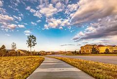 Sidewalk to Pikes (sassiitalytours) Tags: nikond810 nikon colorado coloradosprings peyton pikespeak sunrise coloradosunrise hdr