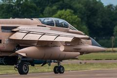 RAF Tornado (M J Robinson Photography) Tags: 2017 arrivals riat thursday royalinternationalairtattoo raf fairford britain british air force royalairforce panavia tornado gr4 zg750 pink pinky gulf war attack aviation photography nikon d7100 nikond7100