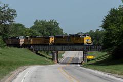 Passing Over US90 (Matt D. Allen) Tags: borden texas unionpacific up rail trains railfan