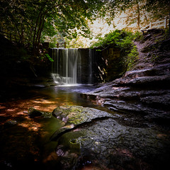 Woodland waterfall 3 (another_scotsman) Tags: waterfall plaspower wales cascade forest woodland stream river
