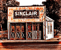Sinclair (Eyellgeteven) Tags: building rundown dilapidated faded modified processed sinclair sinclairgas store abandoned boardedup forgotten vacant rust rusty rusted rustyandcrusty retired brokendown ugly eyellgeteven vignetting aged old oxidized oxidation haunted explore