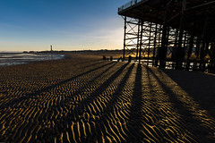 Another Day (subterraneancarsickblues) Tags: blackpool town seaside resort beach sand coast dawn sunrise shadows pier gold canon 6d eos6d 1635mm f4l lseries wide wideangle lancashire