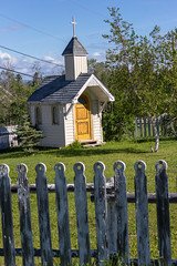 Country church (poormommy) Tags: cranbrook britishcolumbia building church fence cross picketfence woodfence wood door challengegamewinner friendlychallenges