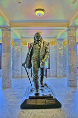 Statue of Brigham Young, Utah State Capitol, 350 State Street, Salt Lake City, Utah, USA / Architect: Richard K.A. Kletting / Built: 1916 / Height: 285 ft (87 m) (dome) / Floor count: 5 / Architectural styles: Corinthian order, Neoclassical architecture (Photographer South Florida) Tags: greatsaltlake thegreatsaltlake geology lake water saltwater utah usa america scenic mountains clouds nature vacation lakebonneville americasdeadsea salt bonnevillesaltflats desert saltlakecity saltlakecounty theindustrystate historical city cityscape urban downtown skyline centralbusinessdistrict skyscraper building architecture commercialproperty cosmopolitan metro metropolitan metropolis sunshinestate realestate commercialoffice modernism postmodern modernarchitecture mountaincity highelevation mormon saltlaketemple utahstatecapitol 350statestreet richardkakletting completed1916 height285ft87mdome floorcount5 corinthianorder neoclassicalarchitecture statueofbrighamyoung statue