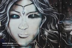 Kampong Glam street art, Singapore (Naomi Rahim (thanks for 4 million visits)) Tags: kampongglam singapore 2017 asia travel travelphotography nikon nikond7200 wanderlust street streetphotography graffiti mural art streetart portrait female indian arabian airbrush